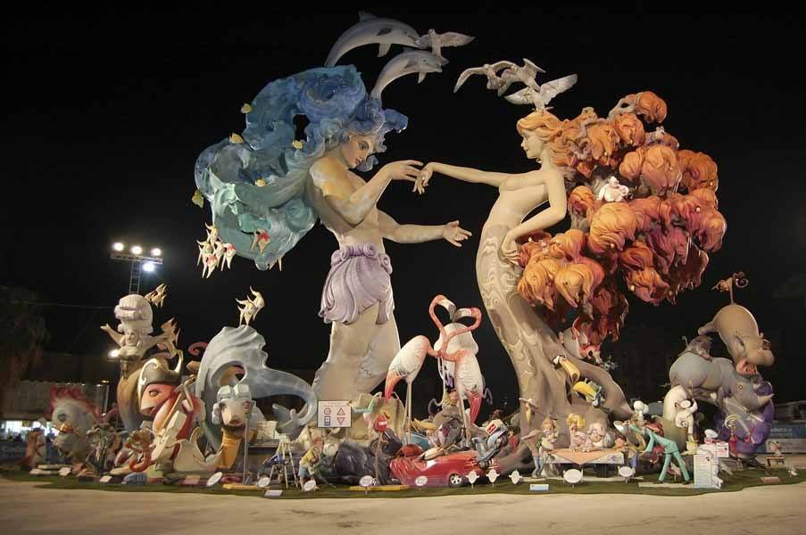best spanish festivals las fallas