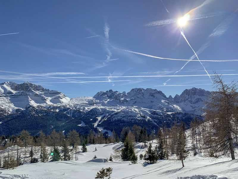 dolomites winter view