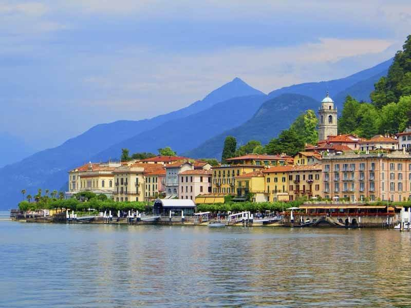lake como colorful