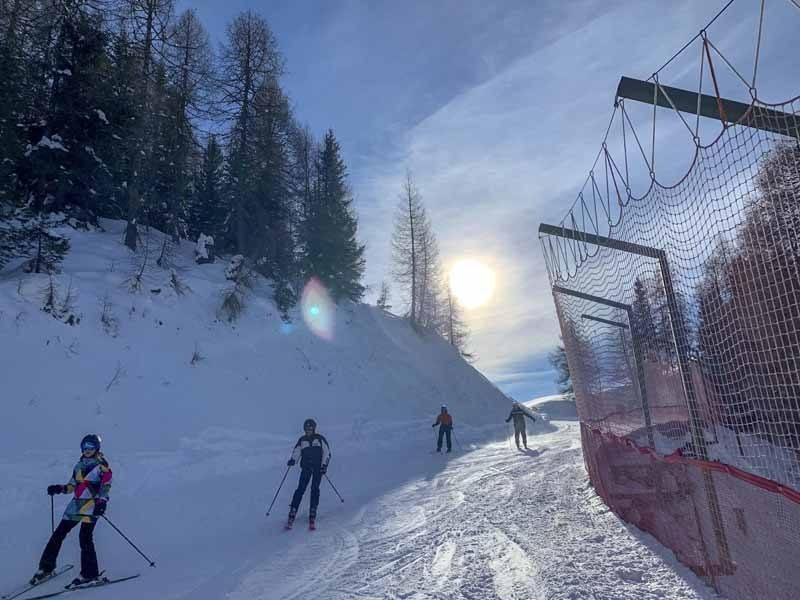 madonna di campiglio skiing graffer slope