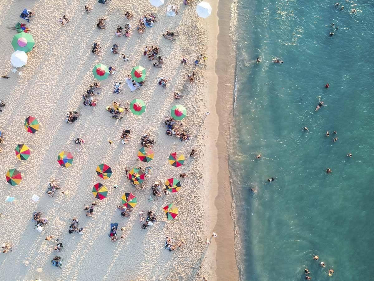 brazil beach drone pic