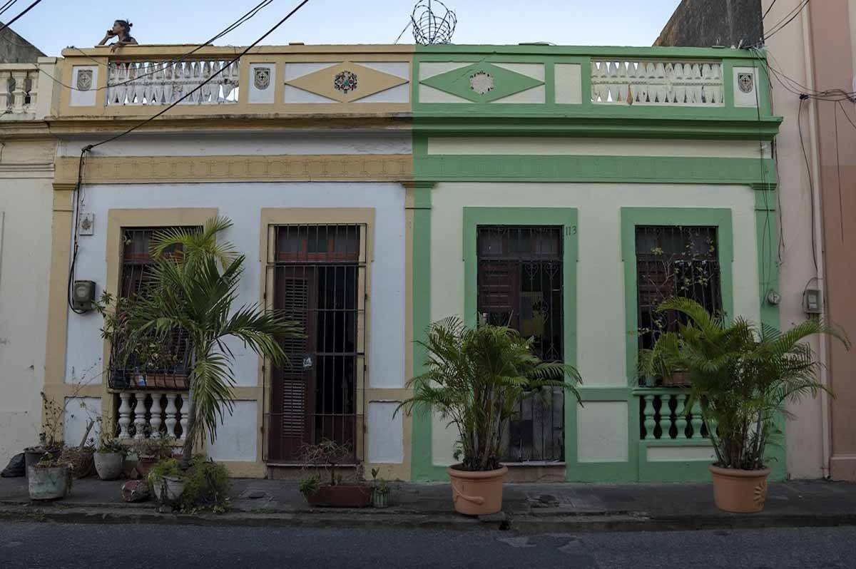santo domingo colorful buildings