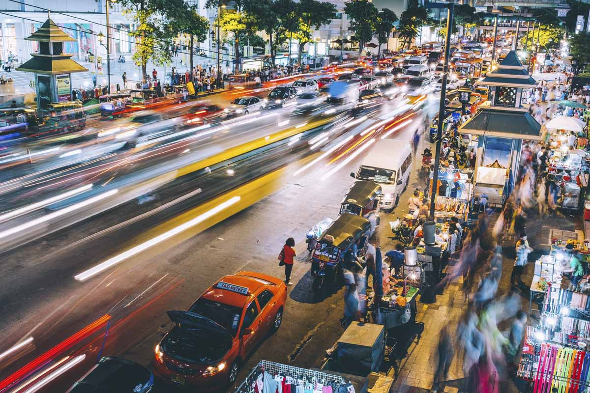 thailand evening traffic
