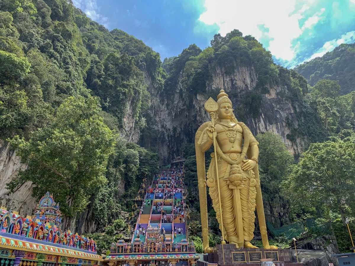 batu caves rainbow