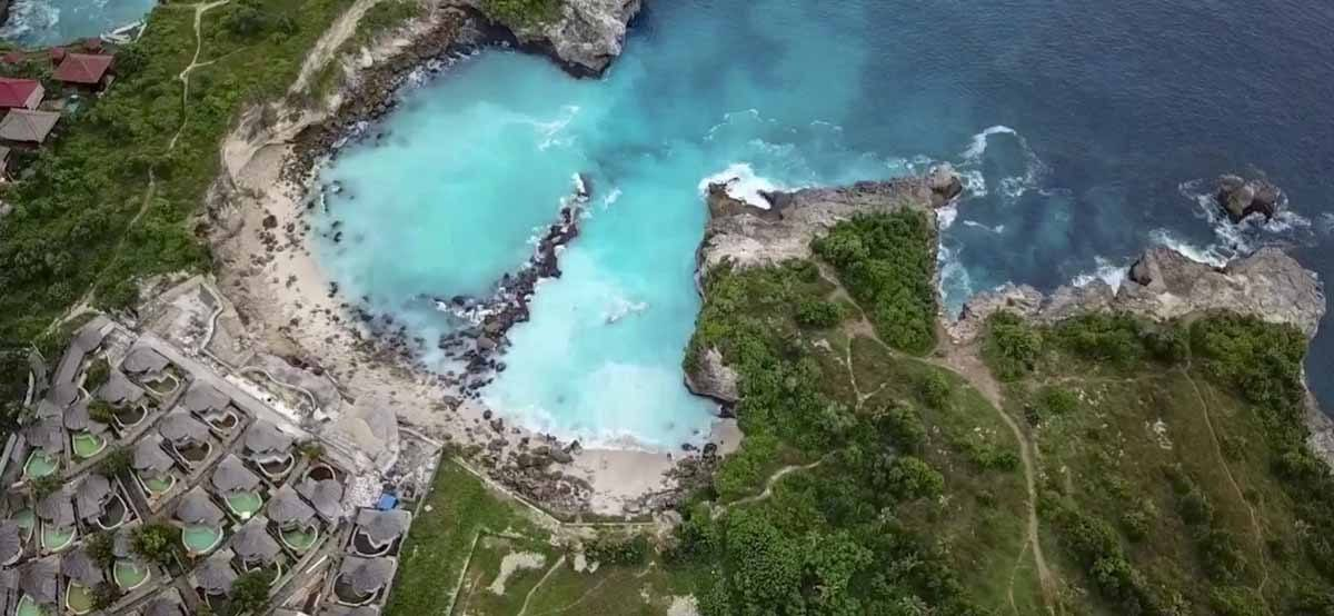 The Blue Lagoon in Nusa Ceningan