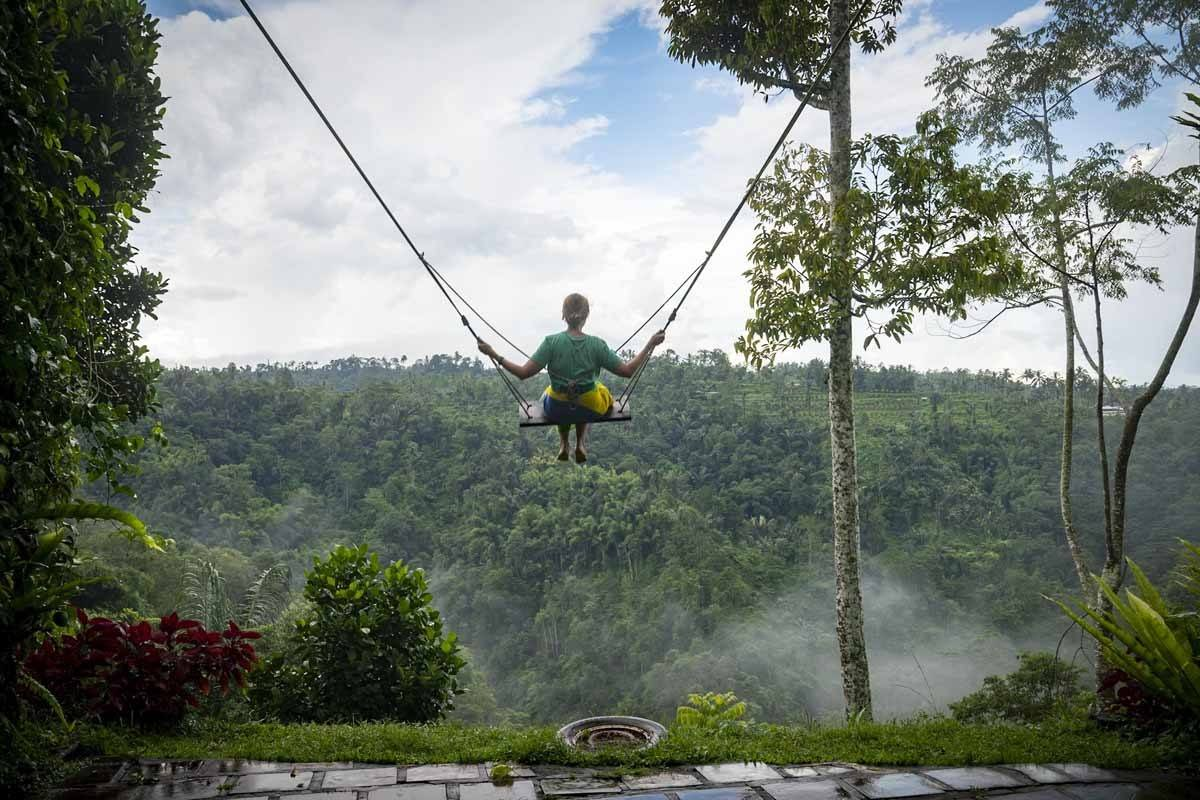 swing from back nung nung bali