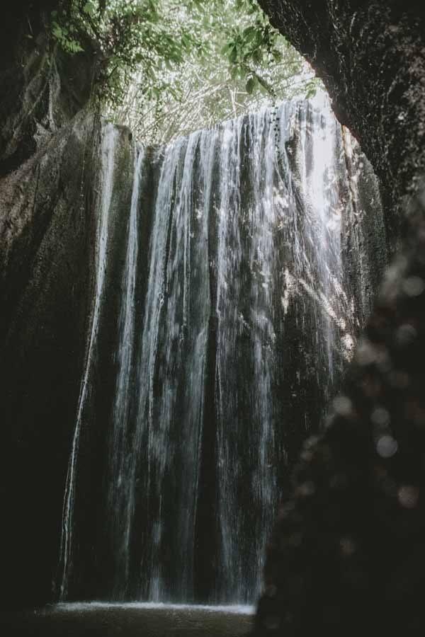 tukad cepung cave waterfall bali