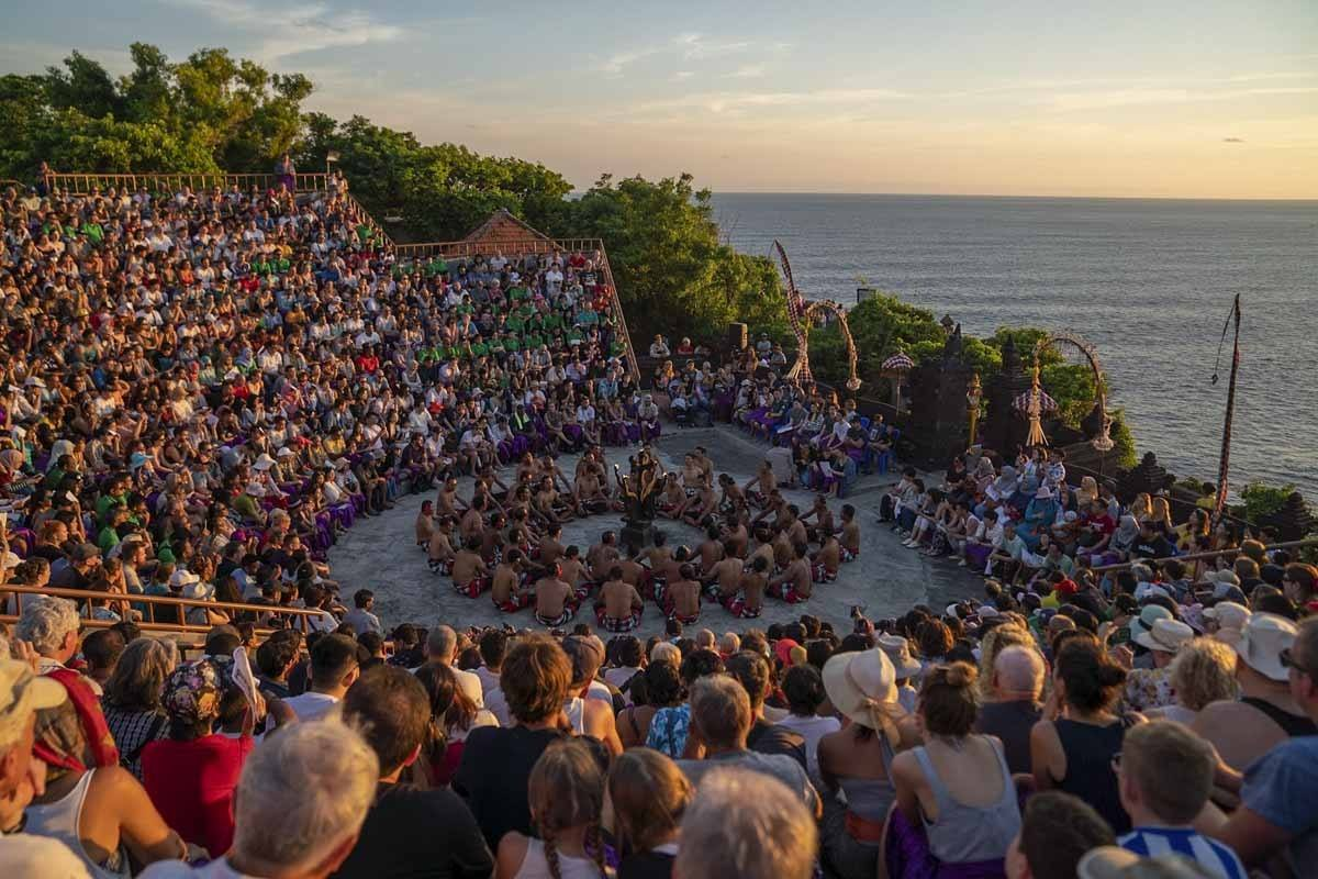 Sunset Kecak dance in Uluwatu Temple