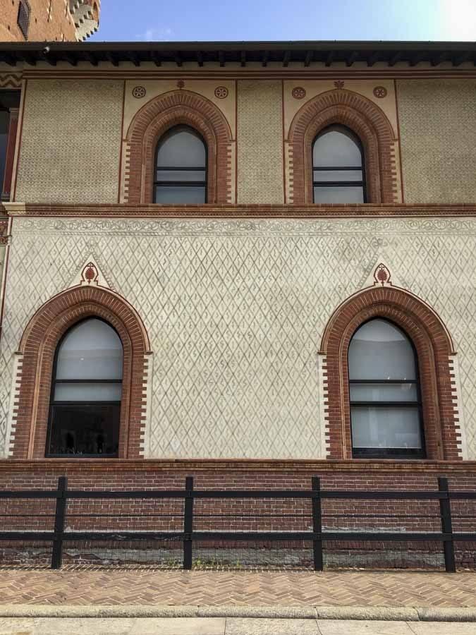 graffito sforza castle milan