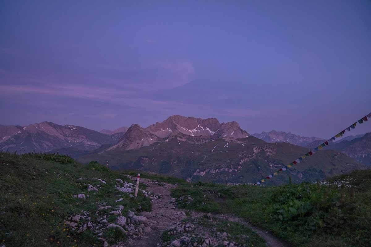 kleinwalsertal mountain sunset