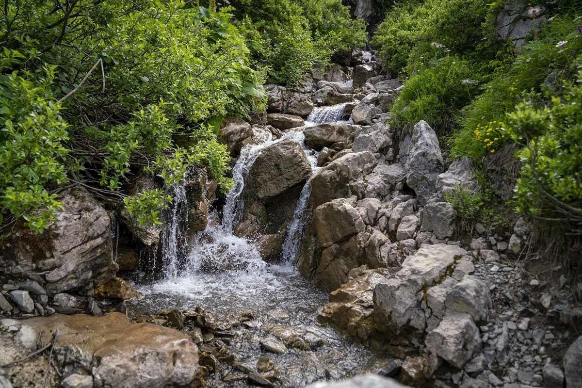 mountain stream rocks