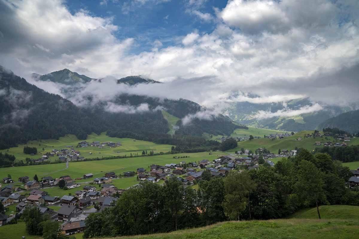 schoppernau valley fog