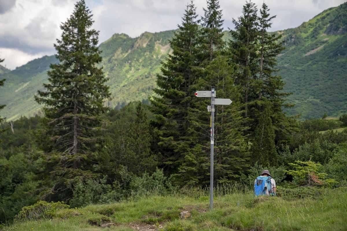 signs widderstein hike bregenzerwald