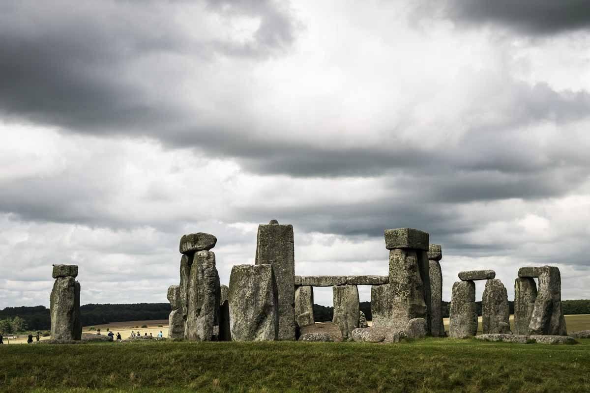 stonehenge dramatic sky