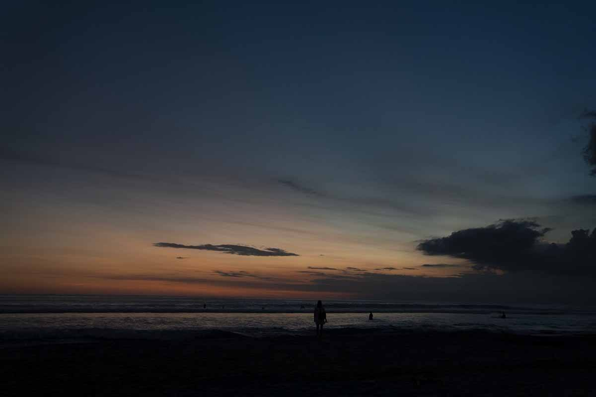 sunset seminyak beach