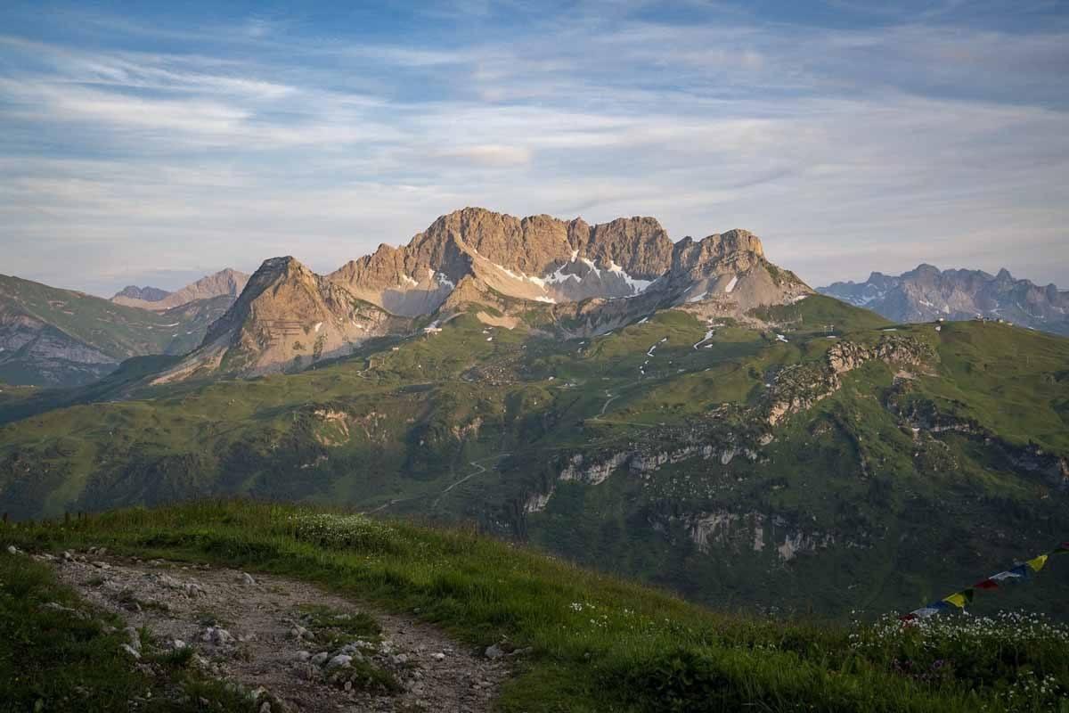 widderstein hike austria sunset