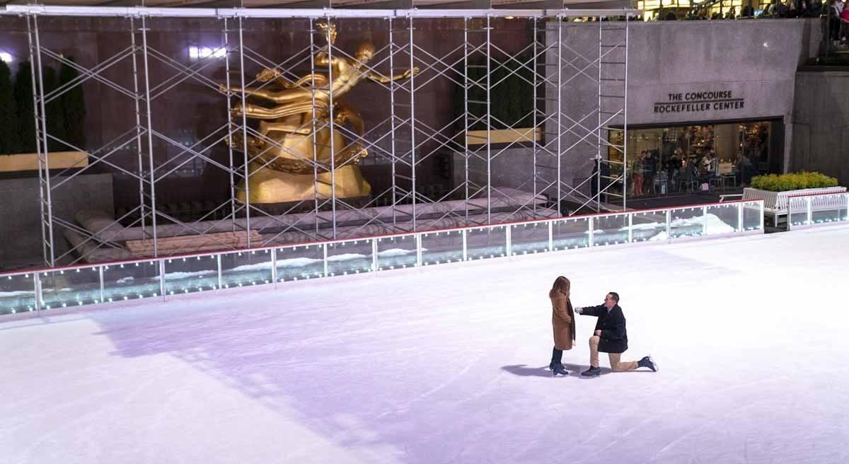 rockefeller center ice skating rink proposal