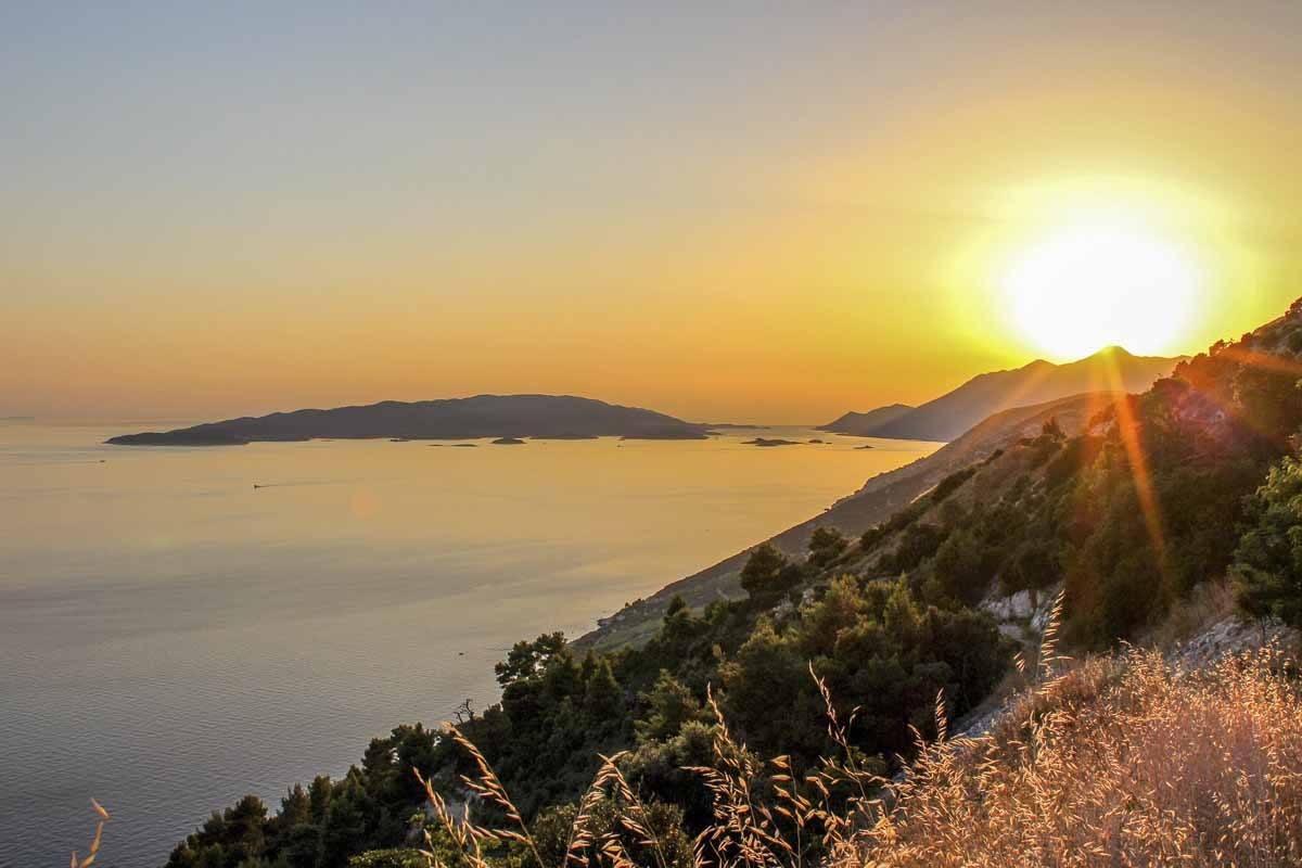 cavtat peninsula sunset