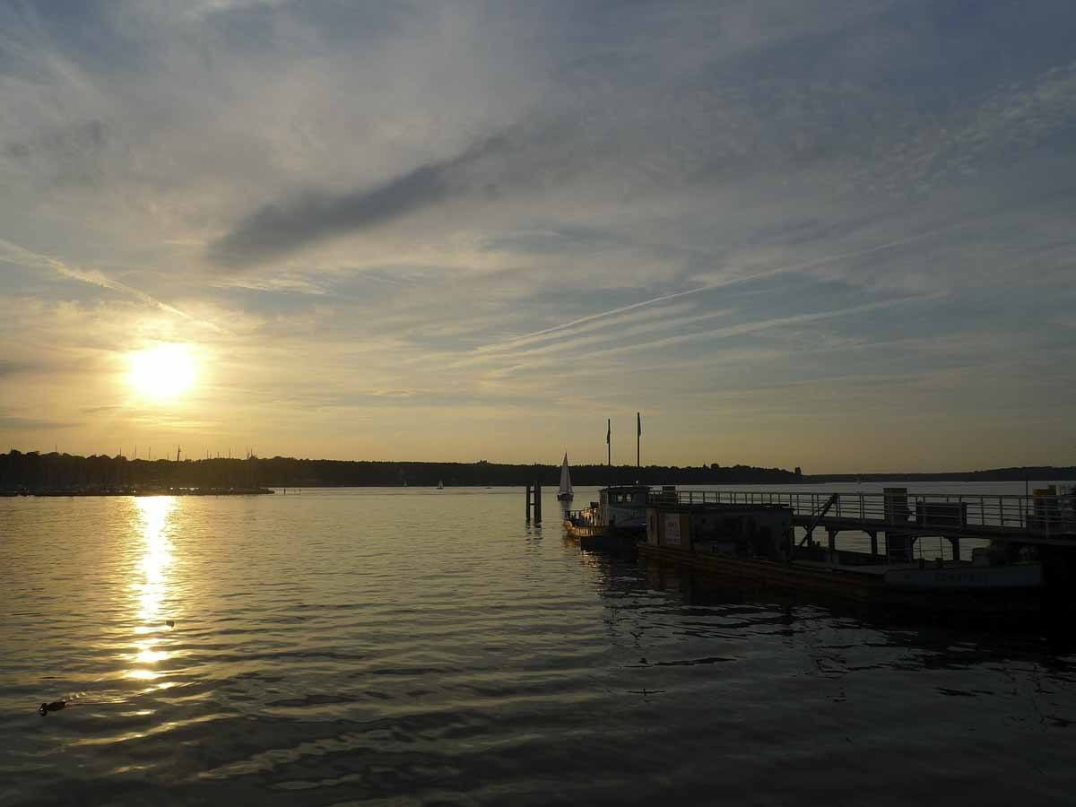 day trips from berlin wannsee sunset