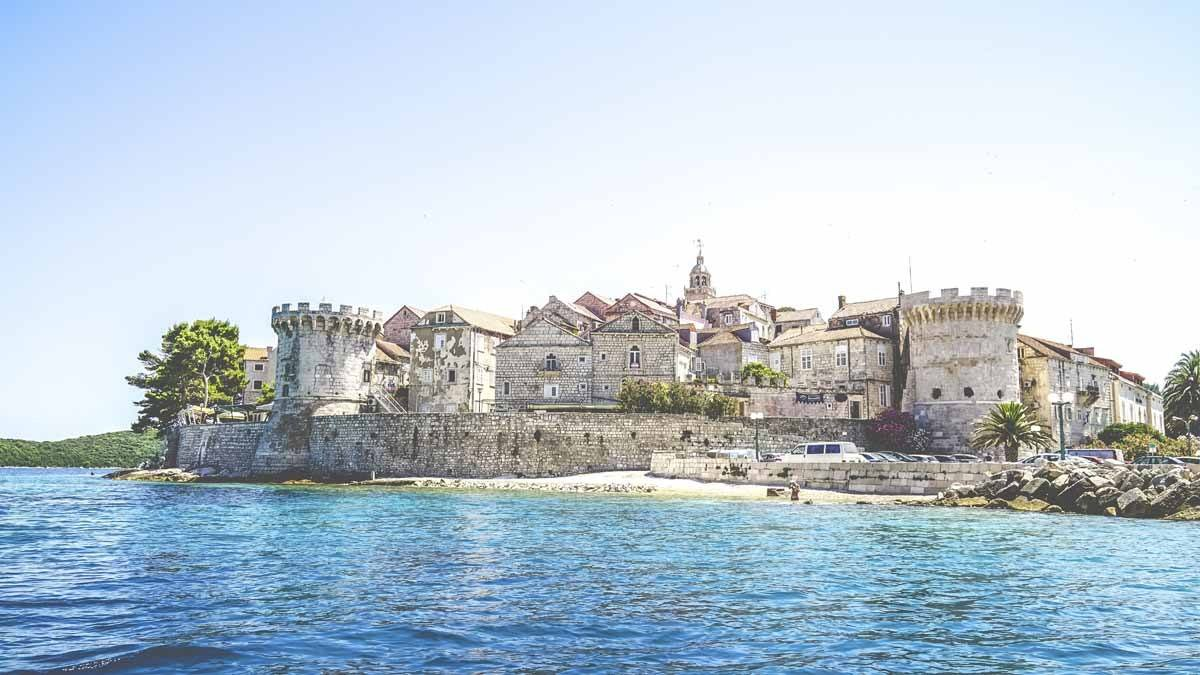 korcula from water