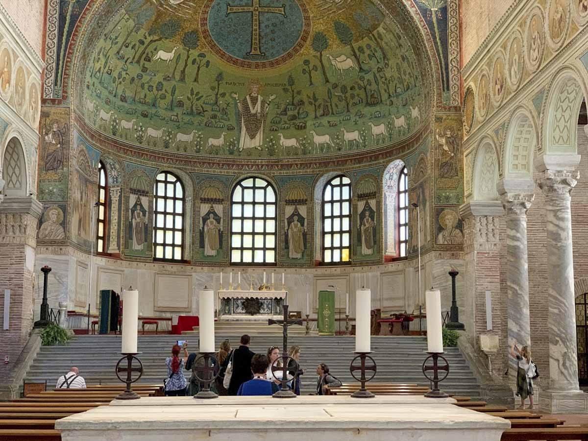 ravenna mosaics sant apollinare nave