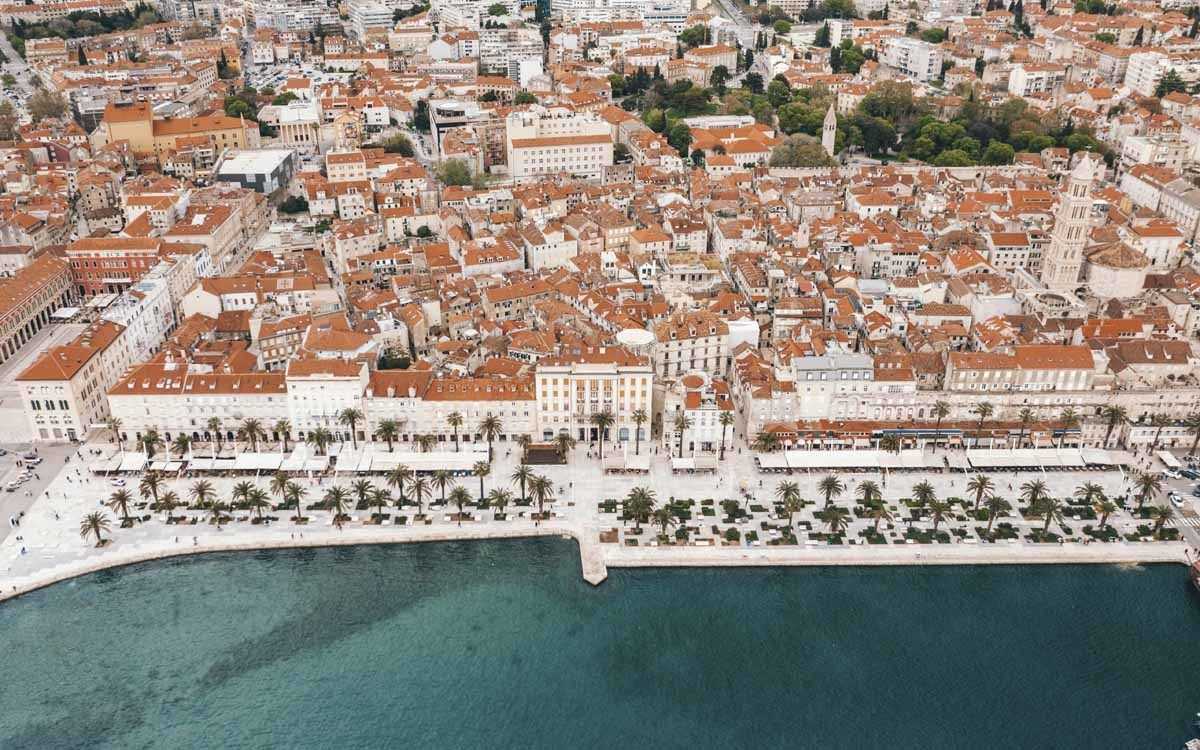 split town aerial view