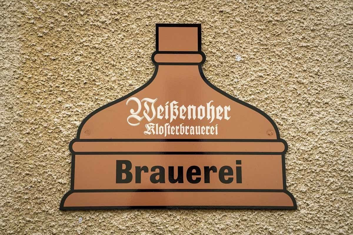 weissenhohe brewery sign franconia