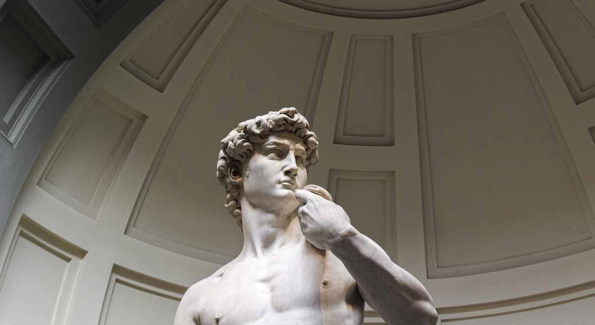 david close up accademia gallery