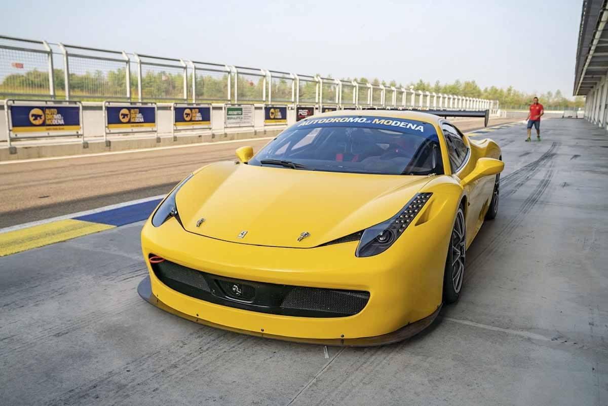 ferrari 458 challenge yellow
