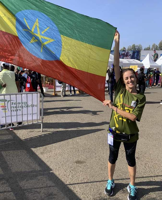 claudia flag great ethiopian run