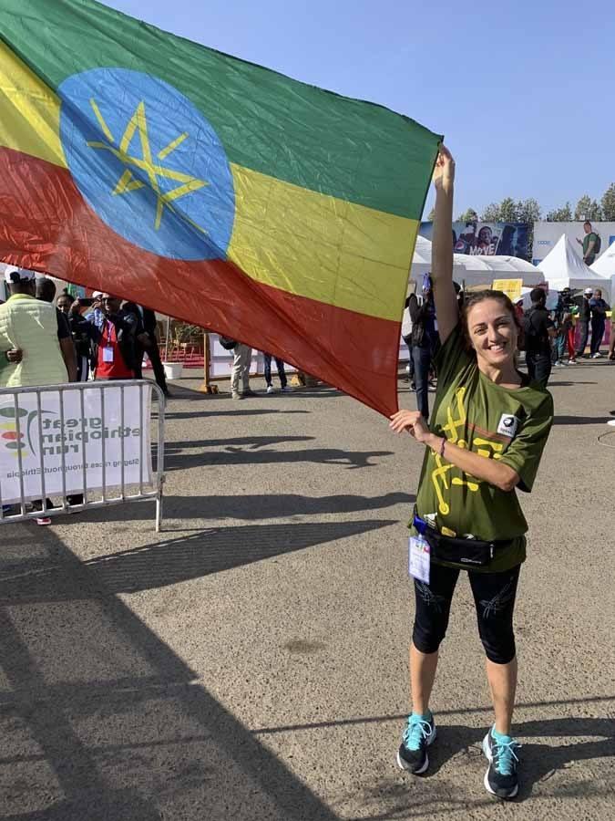 claudia flag great ethiopian run