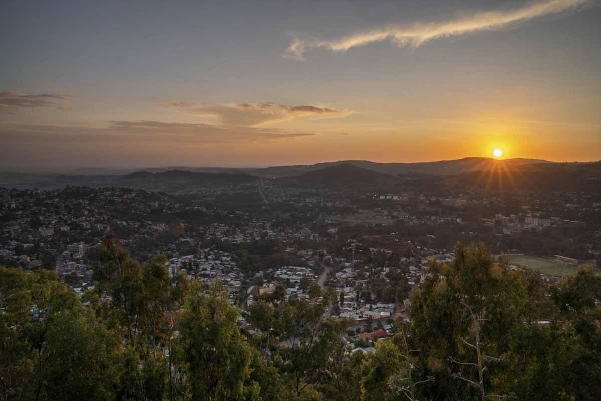gondar sunset