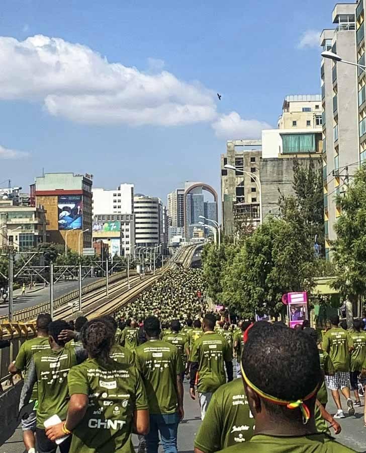 great ethiopian run uphill stretch