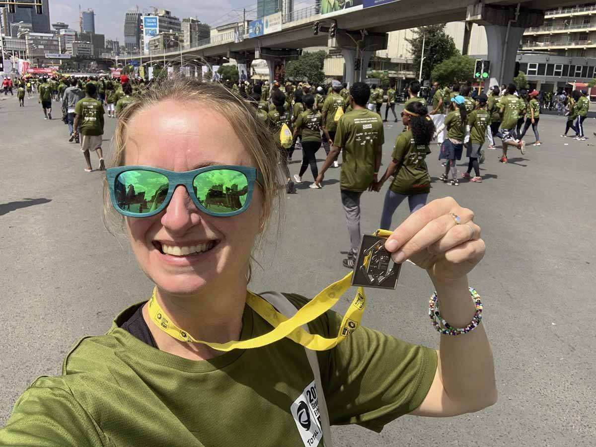 great ethiopian run with medal