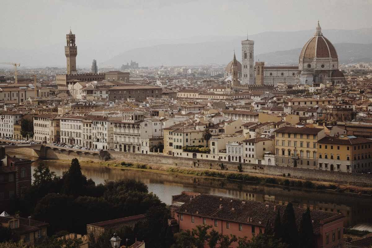 florence view with duomo