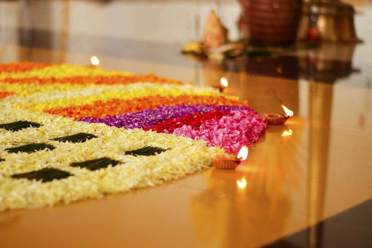 kerala flower composition onam