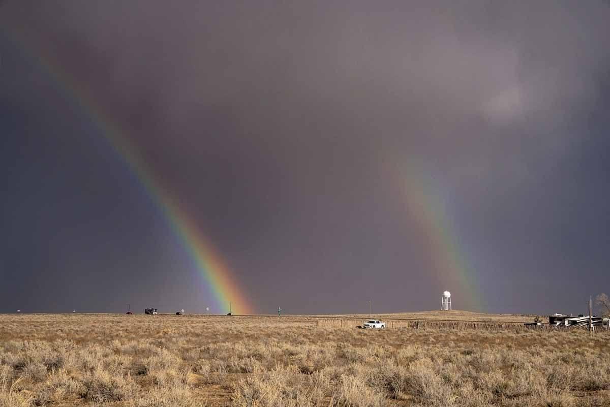 double rainbow white sands