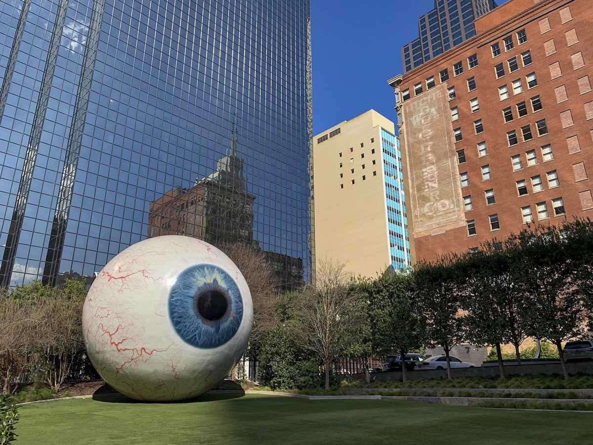 eyeball sculpture dallas