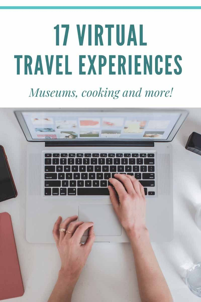 virtual travel experiences pin