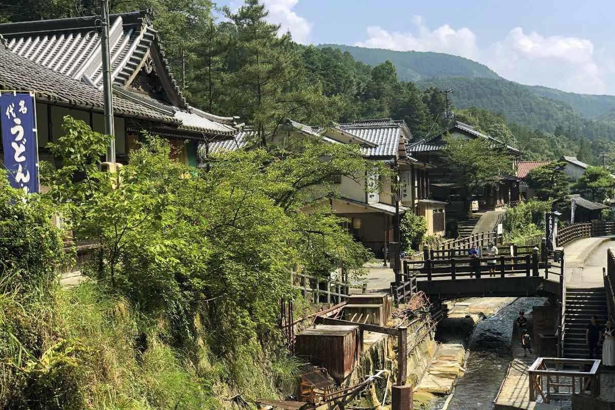 Yumomine Onsen Village in Kumano Kodo