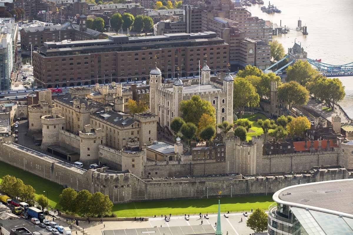 Tower of London view aerial