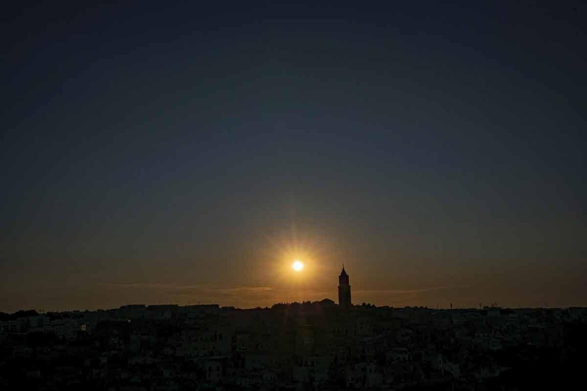 matera sunset