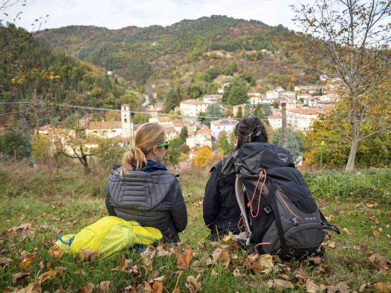 hiking view dantes way marradi