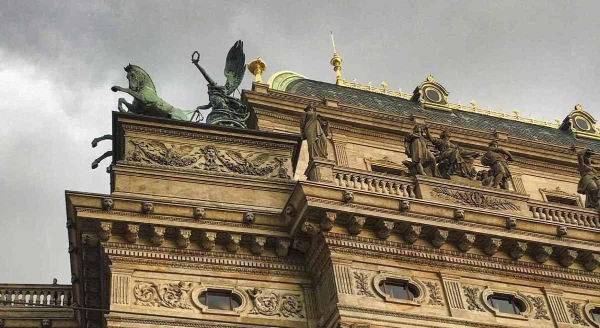 Prague-Façade du bâtiment