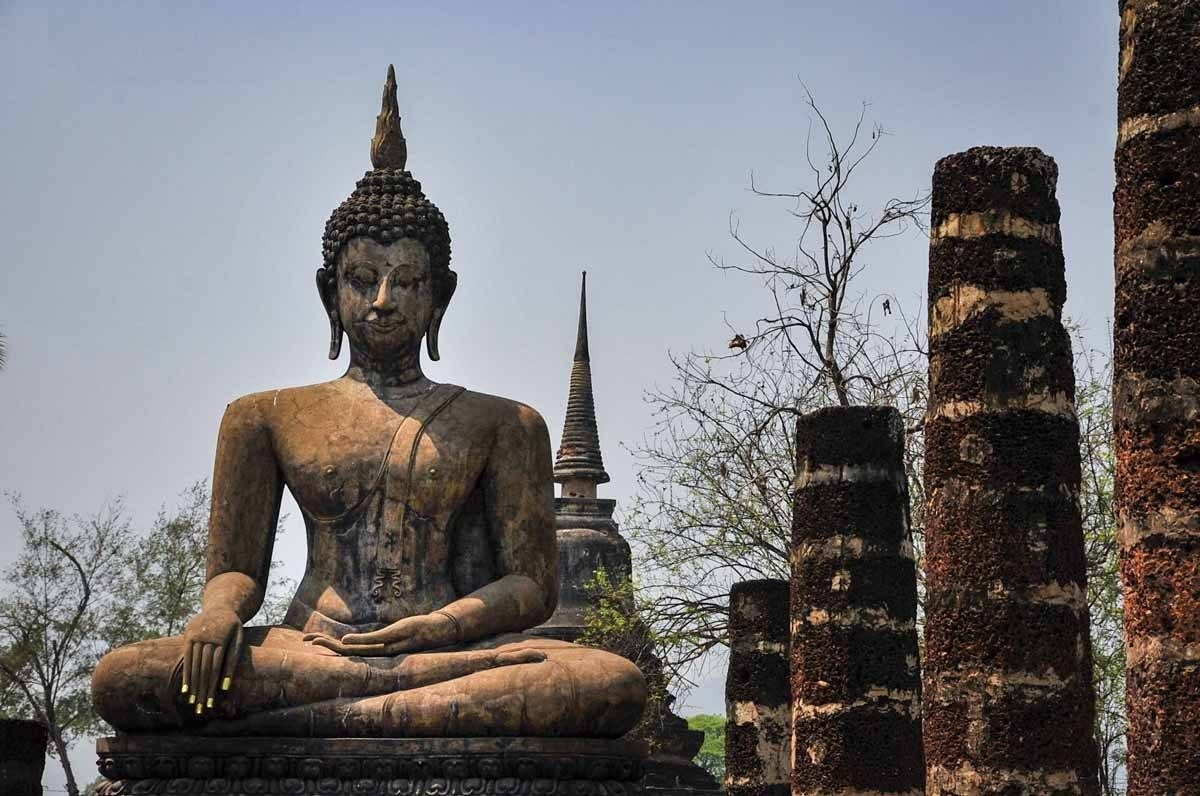 wat mahatat sukhothai gros plan