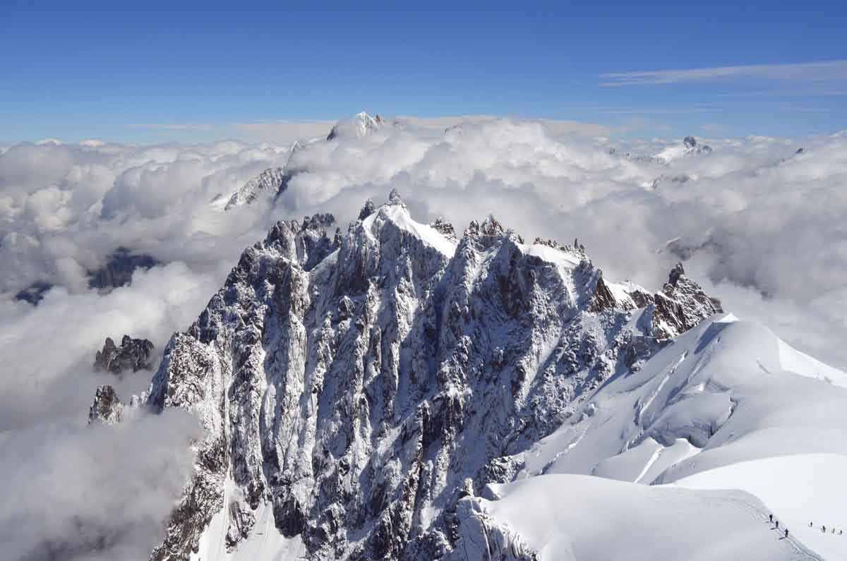 monte bianco italy in june