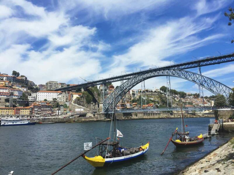 Porto View with Dom Luis I Bridge