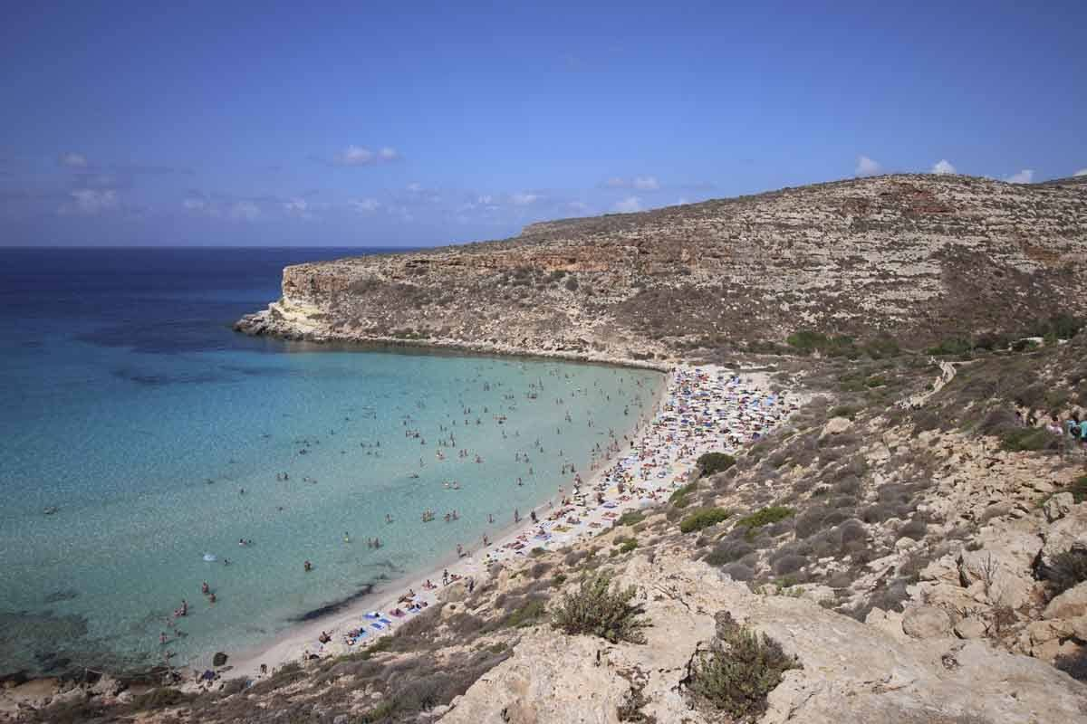lampedusa italy in july