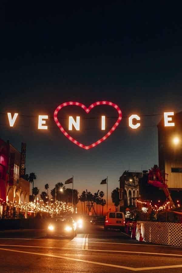 signe de la plage de Venise